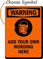 Custom Warning Wear Face Protection Symbol Sign