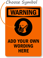 Custom Breathing Apparatus Required Warning Sign