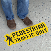 Pedestrian Traffic Only with Clipart