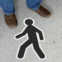 Cut to Shape Pedestrian Sign, Version 2