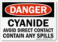 Cyanide Avoid Direct Contact Danger Sign