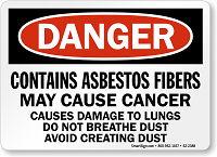 Contains Asbestos Fibers May Cause Cancer Danger Sign