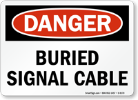 Buried Al Cable Sign