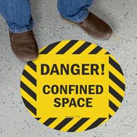 Danger Confined Space SlipSafe™ Floor Sign