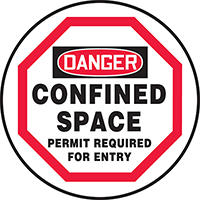 Confined Space Permit Required OSHA Danger Manhole Cover Sign
