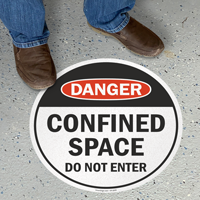 OSHA Danger Confined Space Do Not Enter Sign