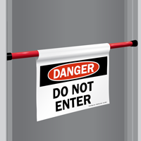 Danger Do Not Enter Door Barricade Sign