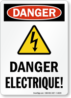 Danger Electrique Sign