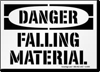 Danger Falling Material Floor Stencil