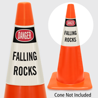 Danger Falling Rocks Cone Collar