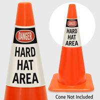 Danger Hard Hat Area Cone Collar