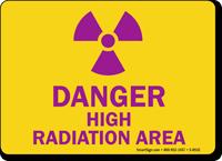 Danger High Radiation Area Sign