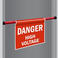 Danger High Voltage Door Barricade Sign