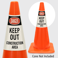 Danger Keep Out Construction Area Cone Collar