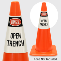 Danger Open Trench Cone Collar