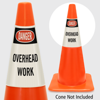 Danger Overhead Work Cone Collar