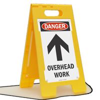 Danger Overhead Work Standing Floor Sign