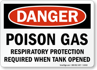 Danger Respiratory Protection Required Sign