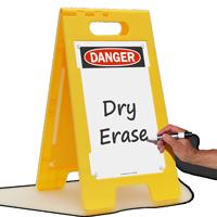 Danger Write On Surface Standing Floor Sign