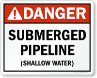 Submerged Pipeline Sign
