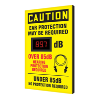Ear Protection May Be Required Decibel Meter Sign