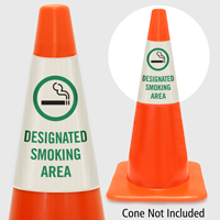 Designated Smoking Area Cone Collar