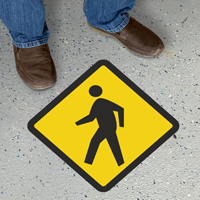 Diamond Shaped Pedestrian Walkway Sign