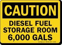 Diesel Fuel Storage Room Sign