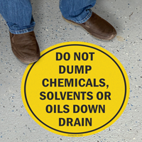 Do Not Dump SlipSafe™ Floor Sign