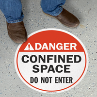 Confined Space Do Not Enter ANSI Danger Sign