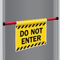 Do Not Enter Door Barricade Sign Sku S2 1967