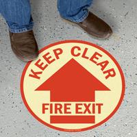 Do Not Enter Circular Glow Floor Sign