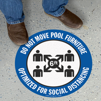 Do Not Move Pool Furniture SlipSafe Floor Sign