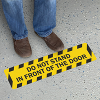 Do Not Stand Floor Safety Sign