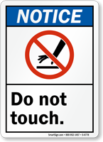 Do Not Touch ANSI Notice Sign