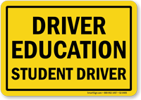 Driver Education Student Driver Magnetic Car Sign