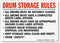 Drum Storage Rules