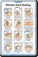 ShowCase Effective Hand Washing Wall Sign