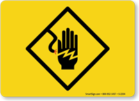 Electrical Symbol Hand Shock Sign