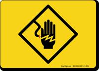 Electrical Symbol Hand Shock Sign