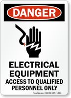Electrical Equipment Access To Qualified Personnel Sign
