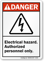 Electrical Hazard Authorized Personnel Only Sign