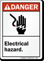 Danger ANSI Electrical Hazard Sign
