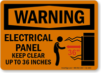 Electrical Panel Keep Clear Warning Sign