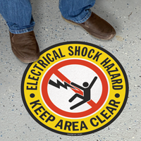 Electrical Shock Hazard Circular SlipSafe Floor Sign
