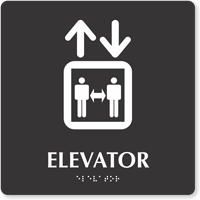 Elevator Keep Distance TactileTouch Braille Sign