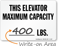 This Elevator Maximum Capacity Sign