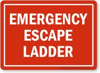 Emergency Escape Ladder Safety Sign