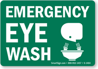 Small Emergency Eyewash Sign