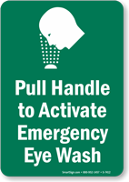 Emergency Eye Wash Sign (with Graphic)